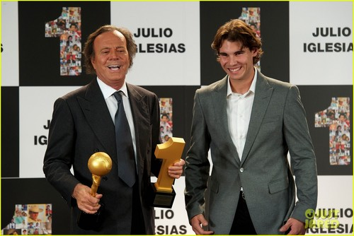 Rafael Nadal Honors Julio Iglesias in Spain