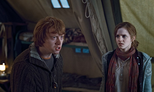 Ron and Hermione fight