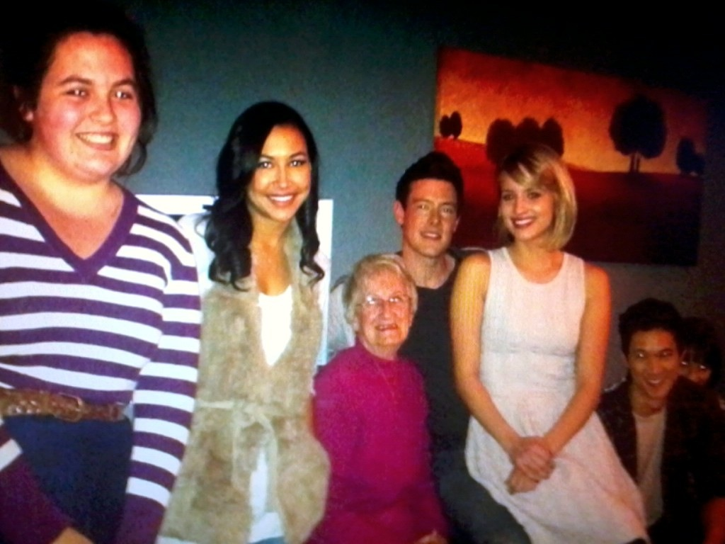 Dianna on Cory's lap :)