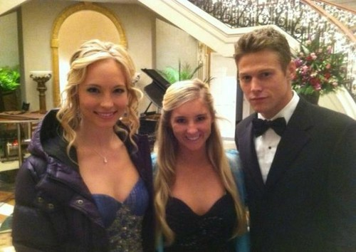 New pic of Candice & Zach BTS of TVD 3x14.
