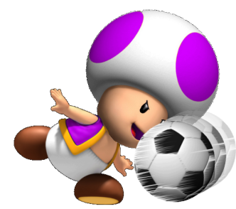 Toad playing Football