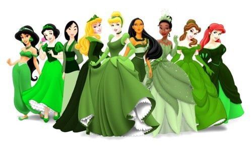 princesses in green