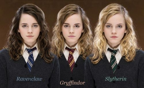 As, Ravenclaw, Gryffindor, Slytherin