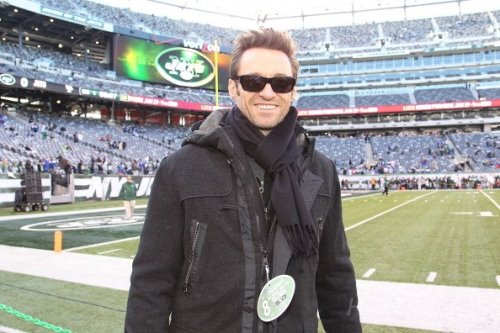 Hugh attends NY Giants vs NY Jets Football Game