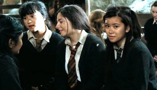 Cho Chang with Katie, Leanne and Padma