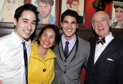 Darren attends the after party How To Succeed 3/01/12