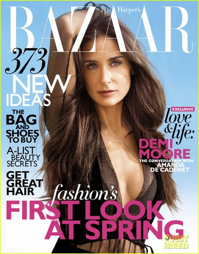 Demi Moore Covers 'Harper's Bazaar' February 2012