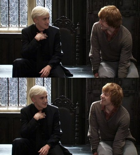 Draco Malfoy and Ron Weasley