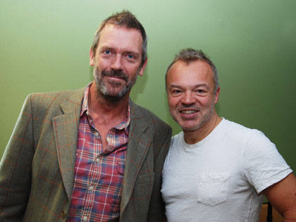 HUGH LAURIE AND GRAHAM NORTON.19.11.2011