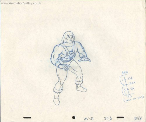 He-Man production drawing