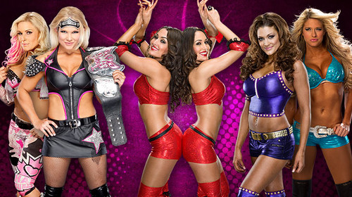 Natalya-Beth-Bella Twins-Eve-Kelly Kelly