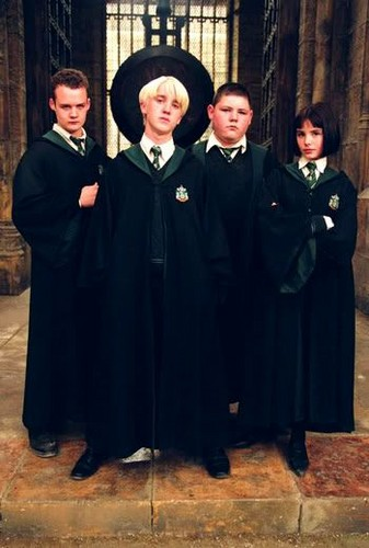 Pansy Parkinson with Malfoy gang