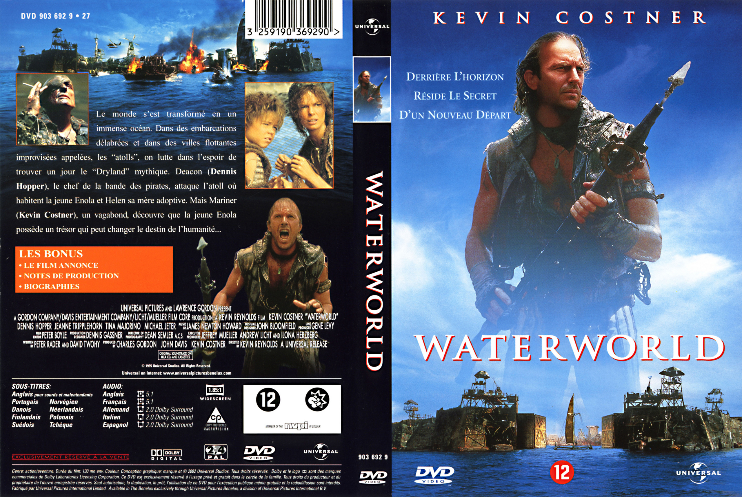 Waterworld French DVD Cover