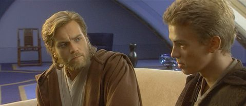 Anakin and Obi-Wan -- Conflict.