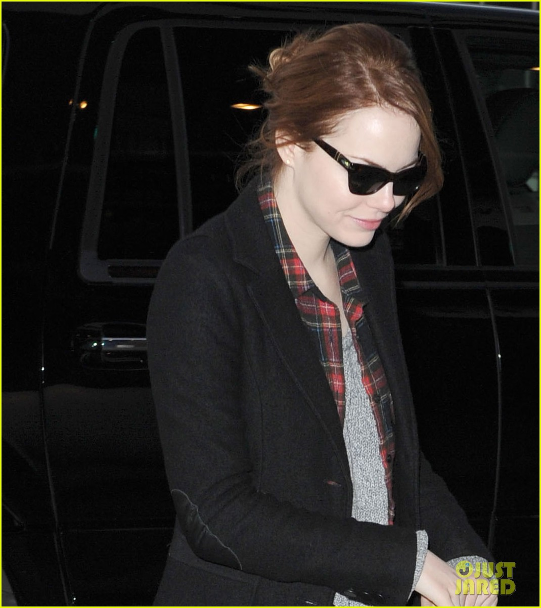 Emma Stone Jets Out of JFK