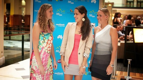 Kvitova Ivanovic and Wozniacka