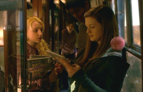 Luna with Ginny and Dean