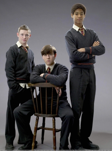 Neville with Dean and Seamus