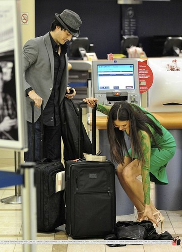 more Ian/Nina airport pics. ♥