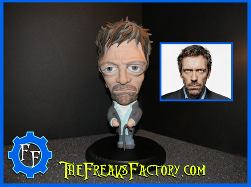 "Hugh Laurie as "" House"" fan Sculpture"