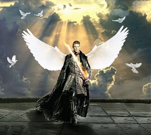 Dean as a warrior angel