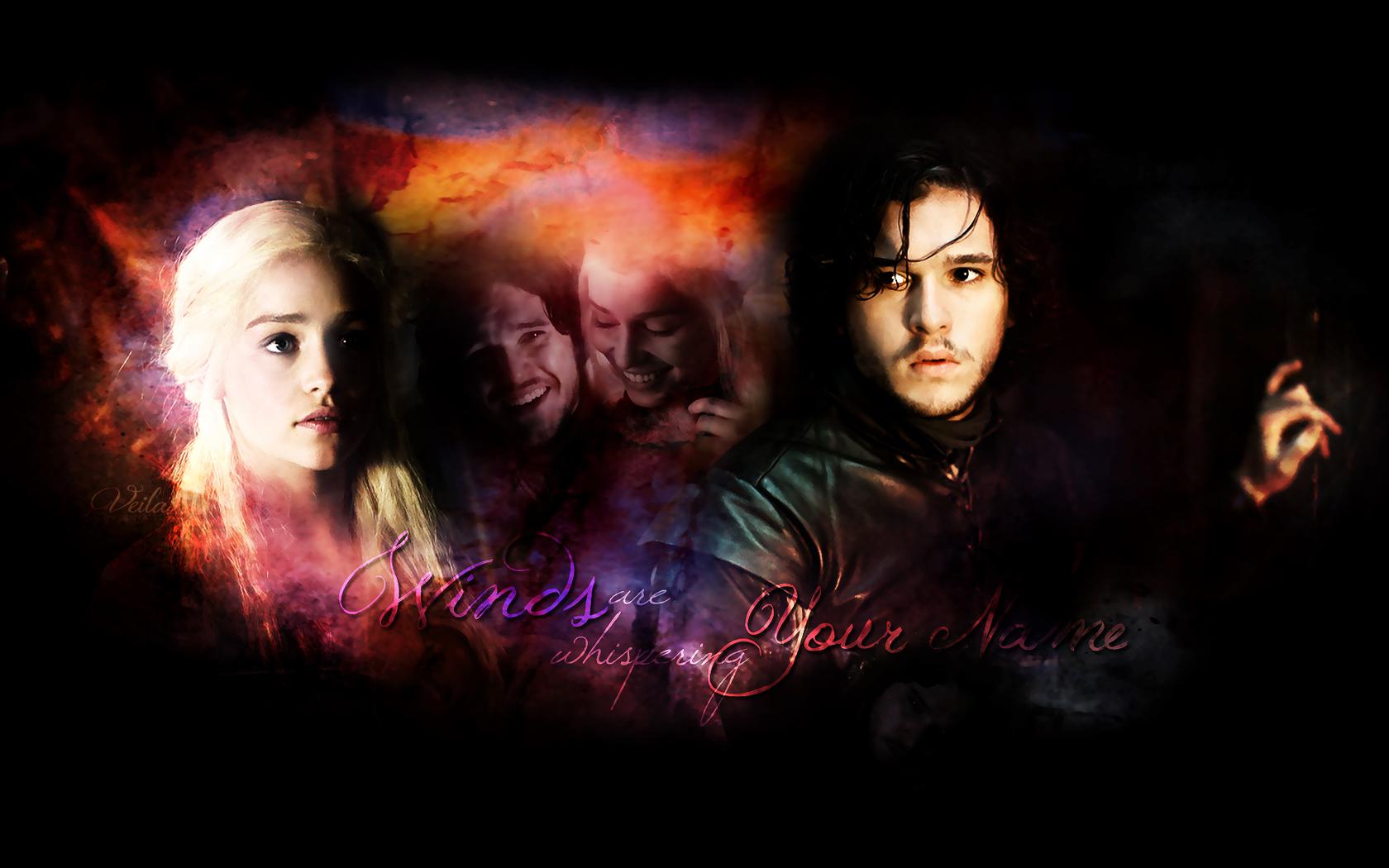 Daenerys Targaryen Jon Snow Game Of Thrones Wallpaper