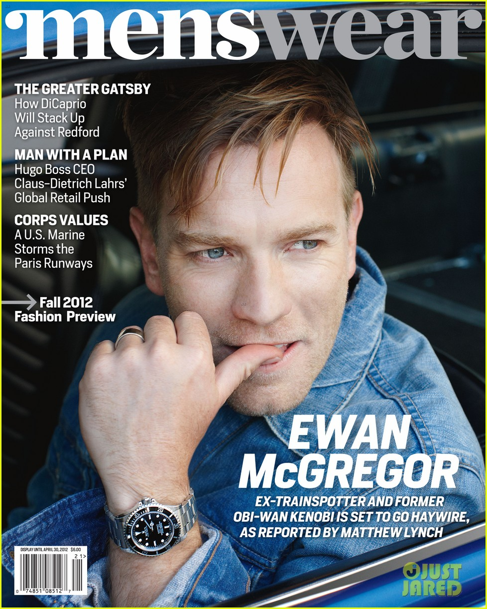 Ewan McGregor Covers 'Menswear' Magazine January 2012