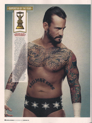 WWE Magazine January 2012- Punk