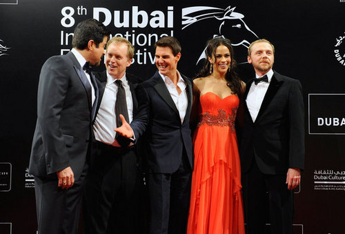 tom cruise on the red carpet in dubai