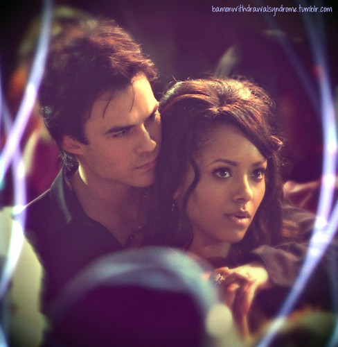 "Damon and Bonnie in"" the last dance"""