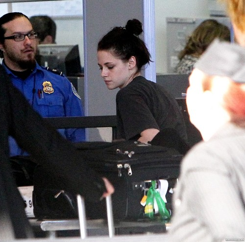 Kristen Stewart at LAX airport in Los Angeles, California - January 29, 2012.