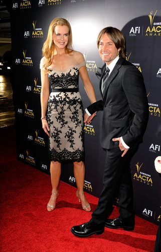 Nicole and Keith - Australian Academy Of Cinema And televisão Arts' 1st Annual Awards