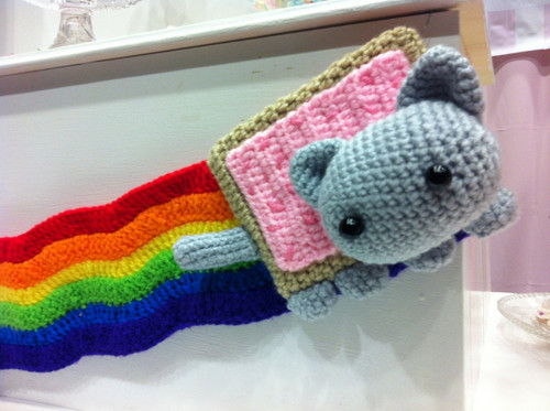 Nyan Cat knitted toy