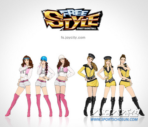 SNSD @ JCE Freestyle Online Promotion
