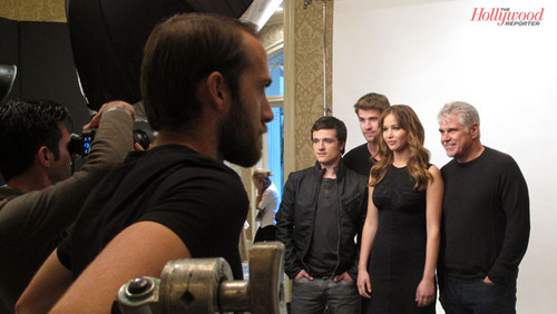 BTS of The Hollywood Reporters Hunger Games cover picha shoot