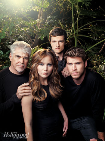 BTS of The Hollywood Reporters Hunger Games cover photo shoot