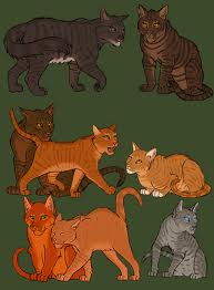 Brambleclaw,Squirrelflight,Greystripe,Tigerclaw,Fireheart,and others u try to name them