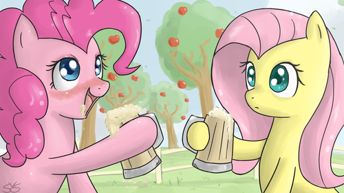 Pinkie Pie and Fluttershy