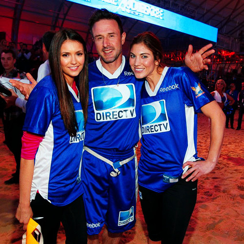 Nina with David Arquette & Hope Solo