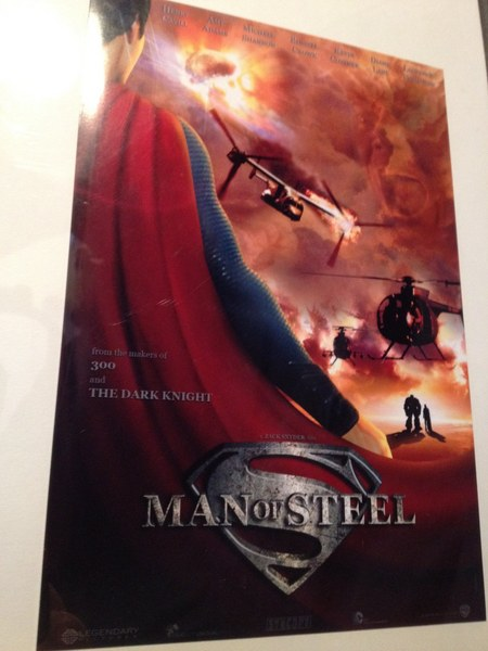 Superman: Man of Steel Poster!