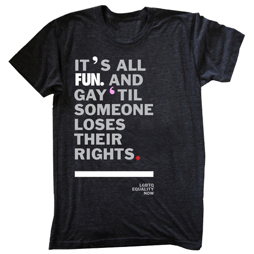 fun. LGBT support tshirt