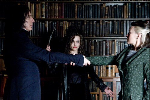Bellatrix with Narcissa and Snape