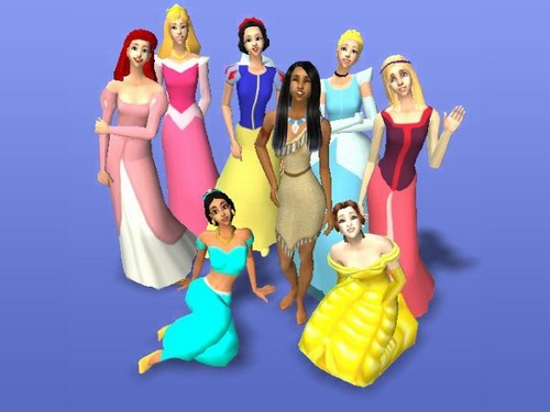 Sims 2 Disney Princess