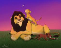mufasa and scar with their father