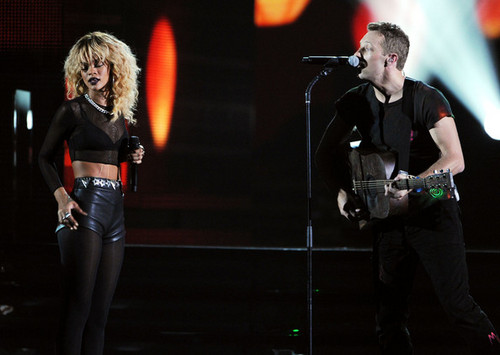 Coldplay performing @ the 54th Annual GRAMMY Awards - Show