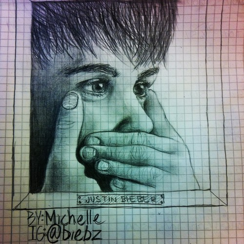 Justin Bieber drawing by me