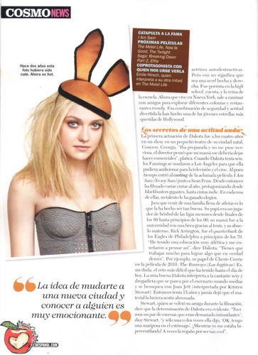 dakota Fanning in Cosmopolitan Mexico