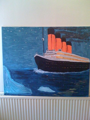my painting of titanic