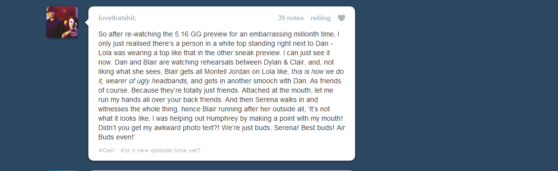 Good speculation about the dair kiss 5x16