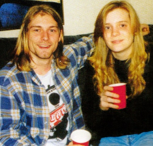 Kurt Cobain and Kim Cobain